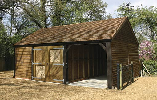 An open carport next to a very secure garage offers greater versatility